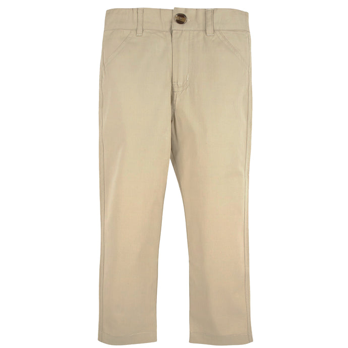 Khaki Twill Pants - Andy & Evan