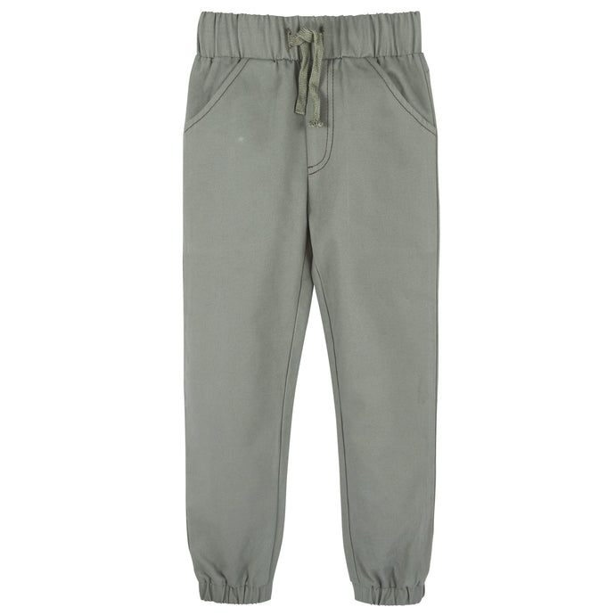 Green Twill Joggers - Andy & Evan