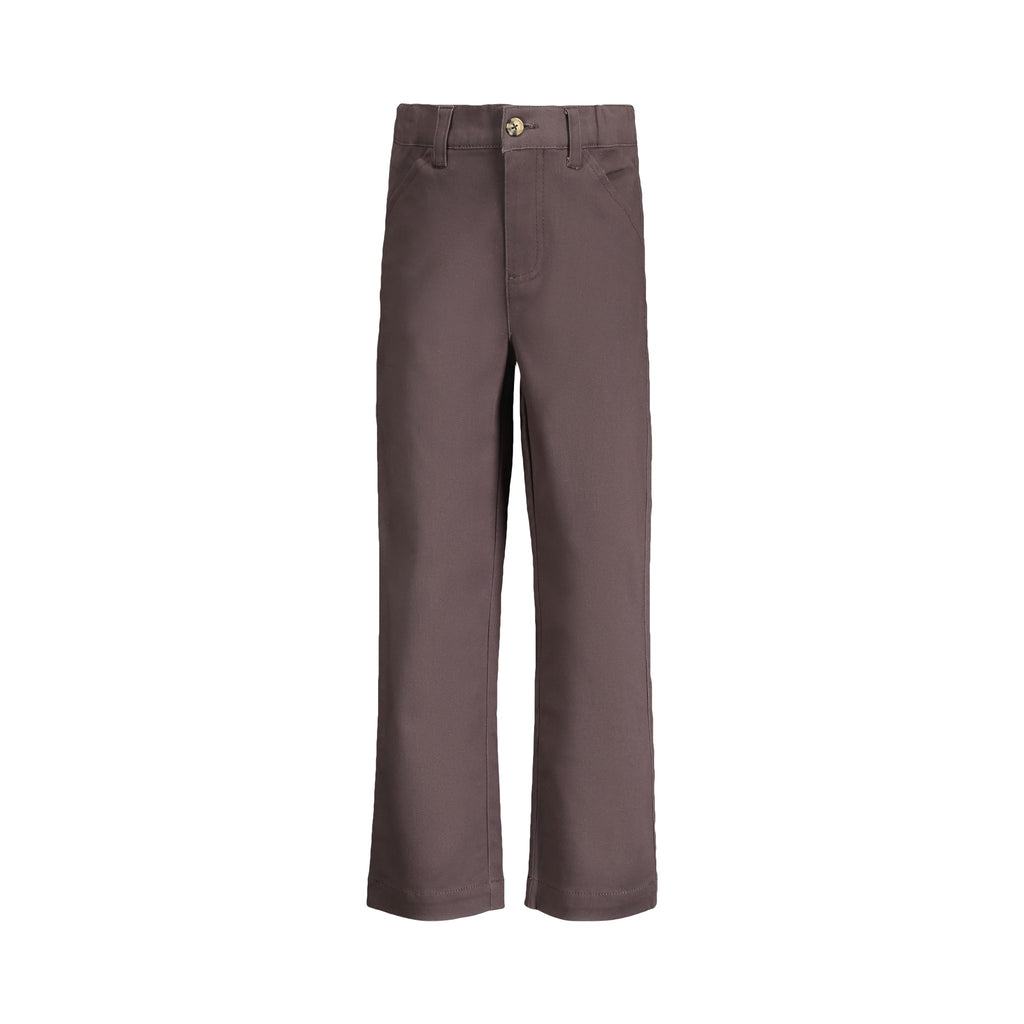 Charcoal Twill Pants - Andy & Evan