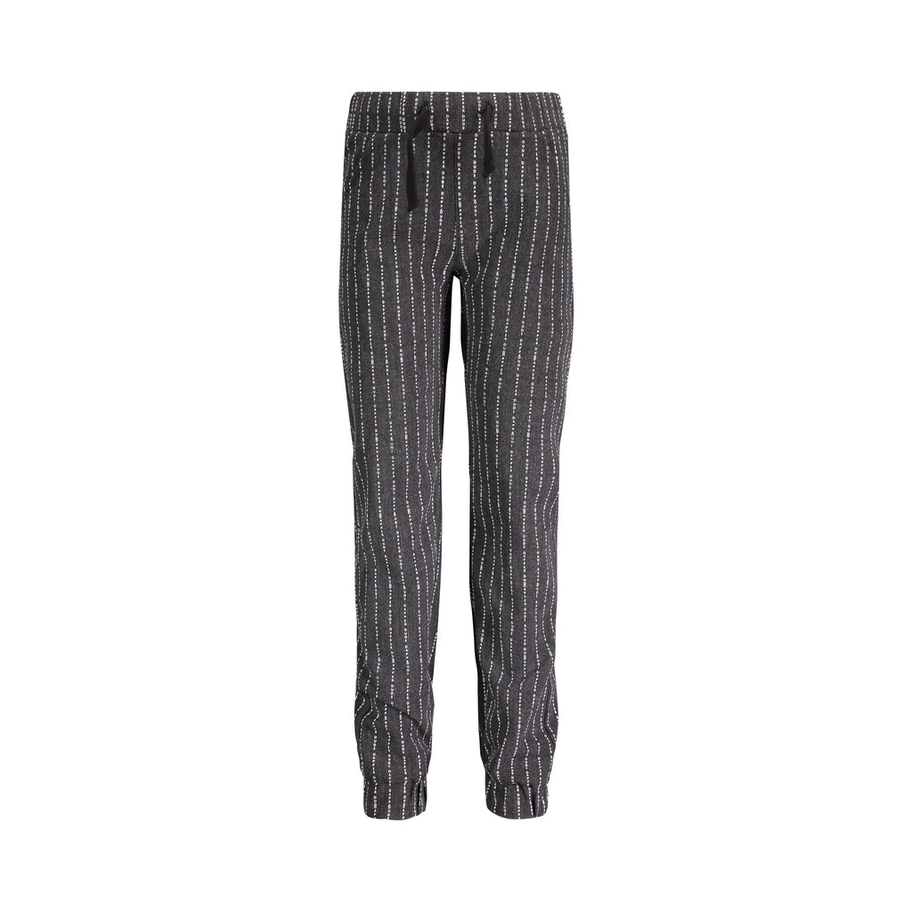 "Charcoal ""Dapper Dude"" Pinstripe Suit Jogger - Andy & Evan"