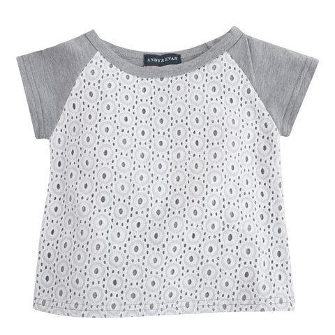 Sweet-Tee Pie: Grey & Eyelet Tee