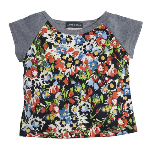 Sweet-Tee Pie: Blue & Floral Tee