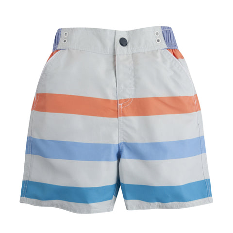 Perfectly Suited: Stripe Swim Trunks