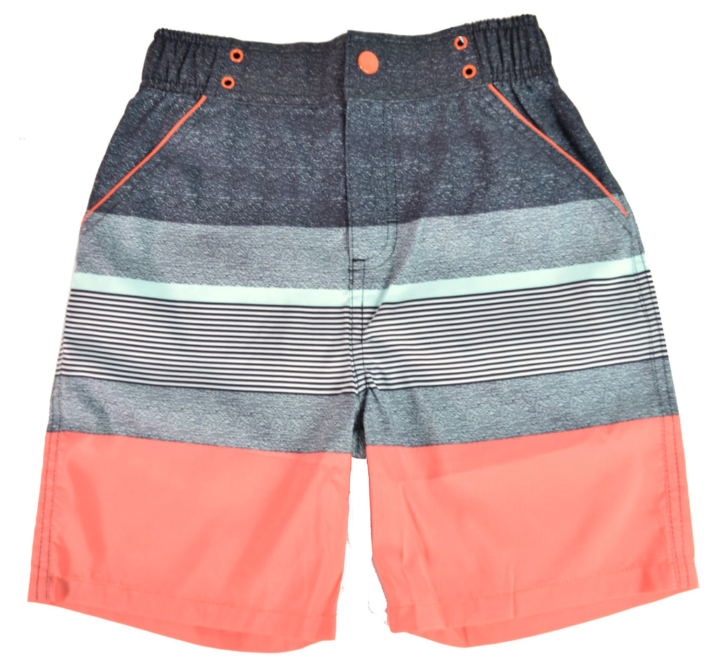 UPF 50 Coral Stripe Swimsuit (Fabric recommended by The Skin Cancer Foundation) - Andy & Evan