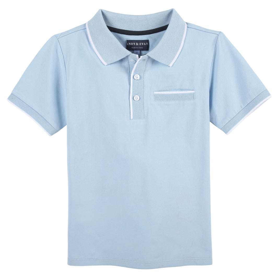 Light Blue Polo - Andy & Evan