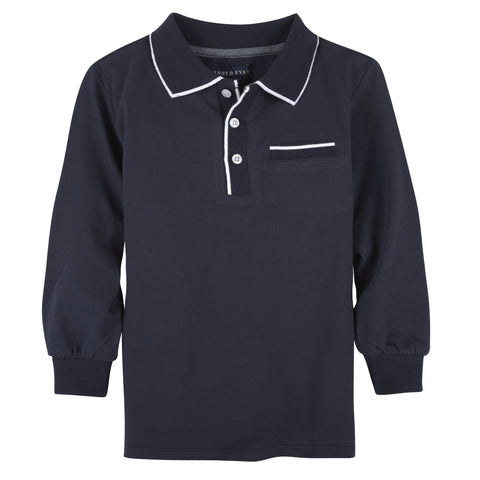 Navy w/ Tipping L/S Polo