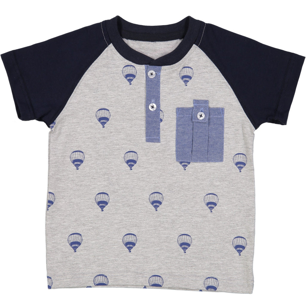 Grey Henley with Hot air Balloons - Andy & Evan