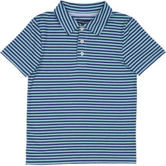 Mint/Navy Stripe Athletic Polo