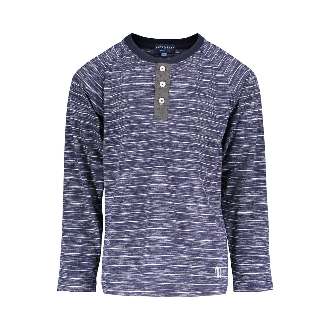 Navy Burnout Stripe Henley - Andy & Evan