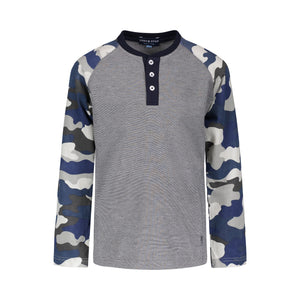 Grey Camo Henley - Andy & Evan