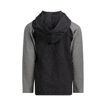 Load image into Gallery viewer, Black Hooded Henley - Andy & Evan