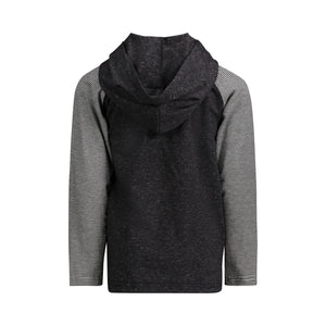 Black Hooded Henley - Andy & Evan