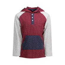 Load image into Gallery viewer, Maroon Hooded Henley - Andy & Evan