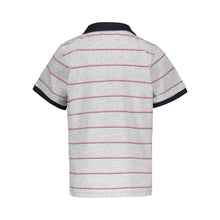 Load image into Gallery viewer, Grey Striped Polo - Andy & Evan