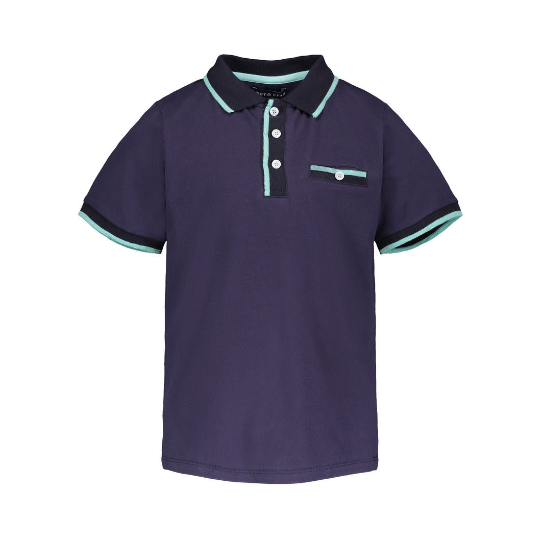 Navy Polo - Andy & Evan