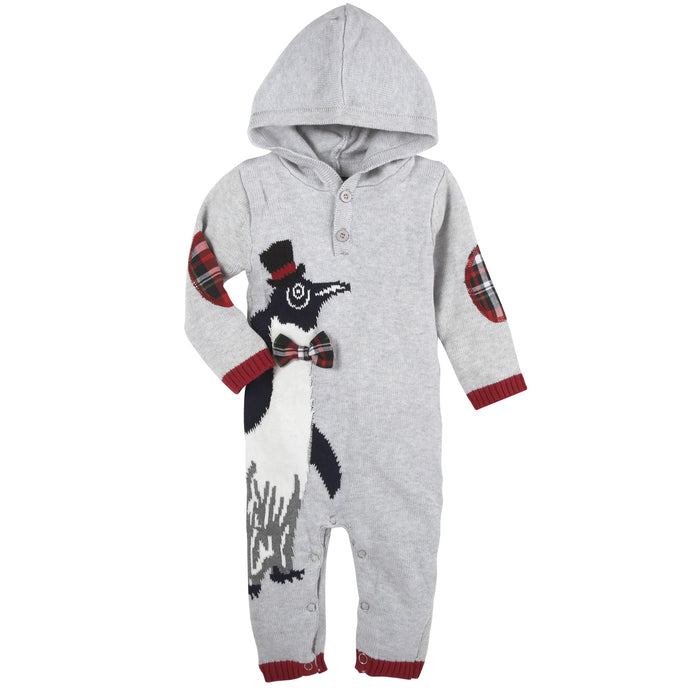 Christmas Penguin Romper - Andy & Evan