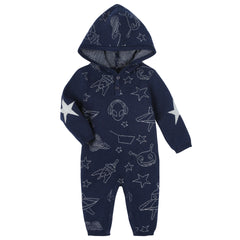 Navy Space Allover Romper