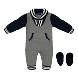Grey Toggle Sweater Romper - Andy & Evan