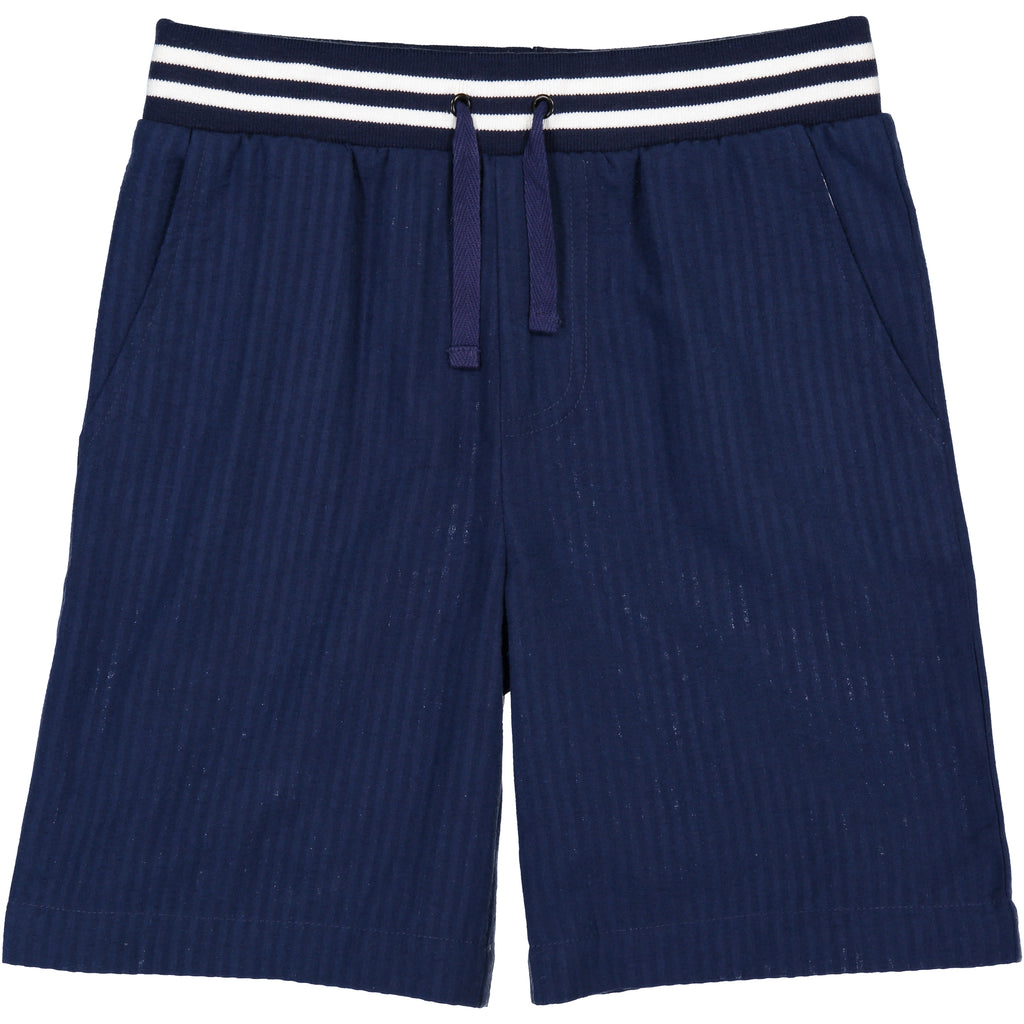Navy Seersucker Jogger Short - Andy & Evan