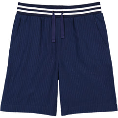 Navy Seersucker Jogger Short
