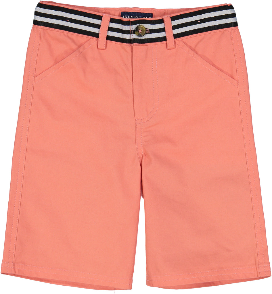 Coral Belted Short - Andy & Evan