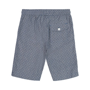 Blue Oxford with White Dot Jogger Short - Andy & Evan