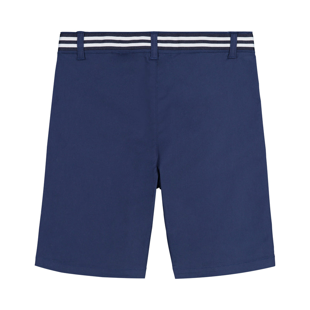 Belted Navy Twill Short - Andy & Evan