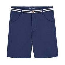 Load image into Gallery viewer, Belted Navy Twill Short - Andy & Evan