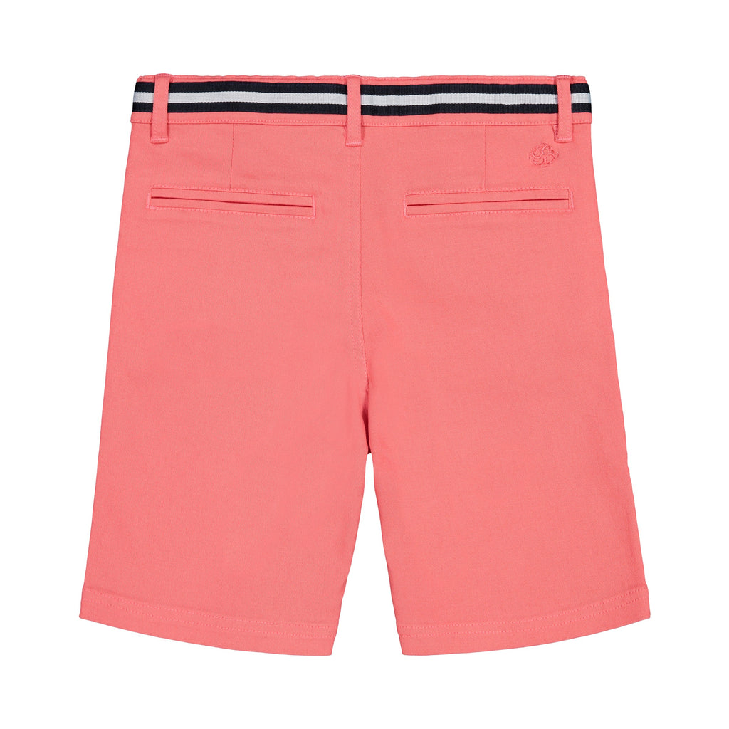 Belted Coral Twill Short - Andy & Evan
