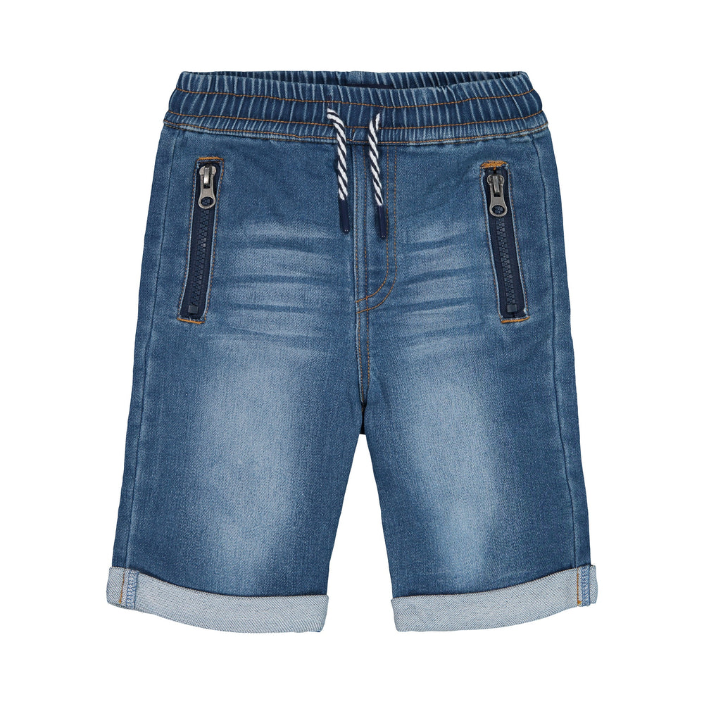 Knit Denim Jogger Shorts - Andy & Evan