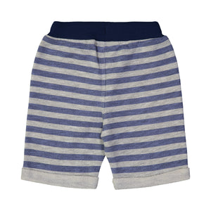 Blue & Grey Multi Stripe Short - Andy & Evan