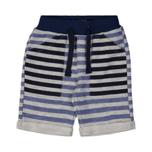 Load image into Gallery viewer, Blue & Grey Multi Stripe Short - Andy & Evan