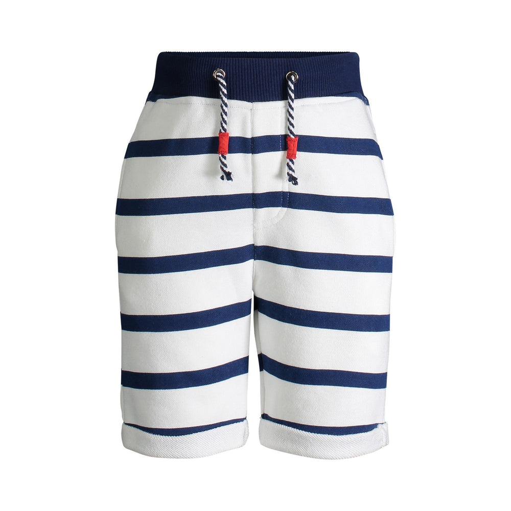 Navy Stripped French Terry Shorts - Andy & Evan