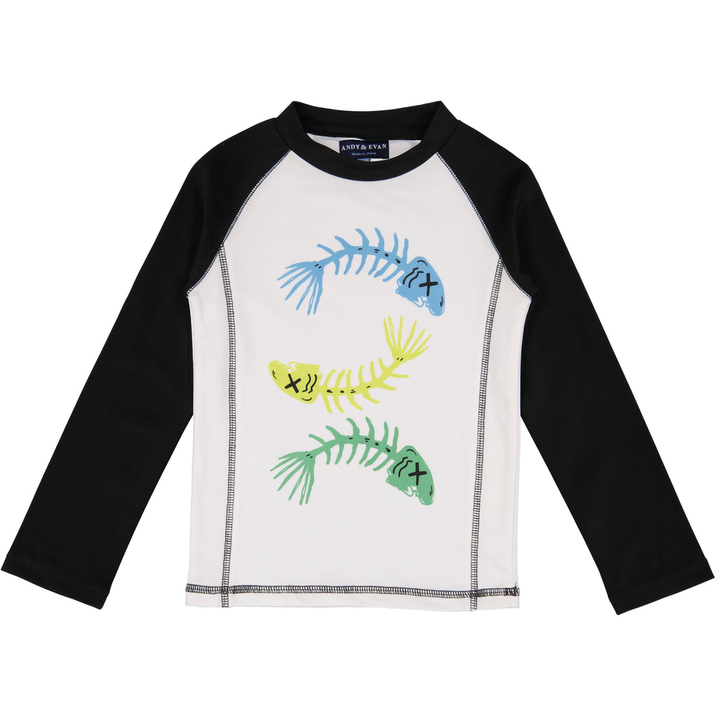 Fish Bones Rashguard (Fabric recommended by The Skin Cancer Foundation) - Andy & Evan