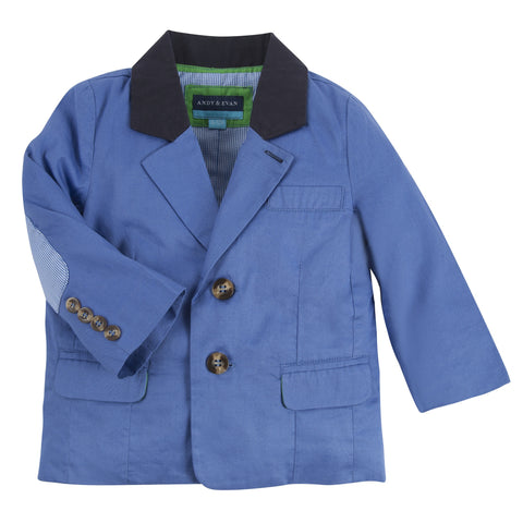 Our Boy Blue: Navy & Cobalt Color Blocked Blazer