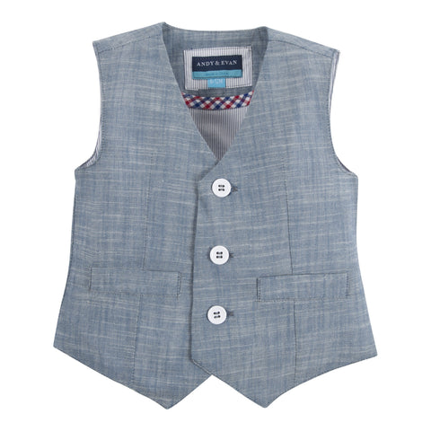 The Ronnie Reed: Blue Chambray Vest