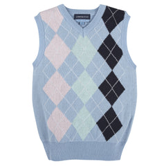 Blue Argyle Easter Sweater Vest