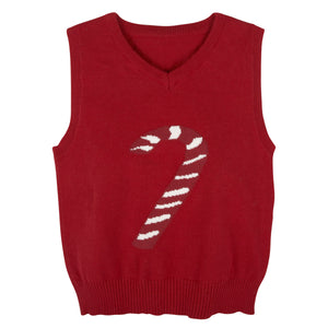 Red Christmas Sweater Vest - Andy & Evan