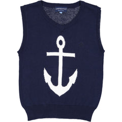 Navy Anchor Sweater Vest