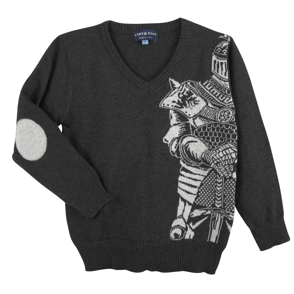 Charcoal Knight Sweater - Andy & Evan
