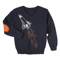 Navy Spaceship Sweater