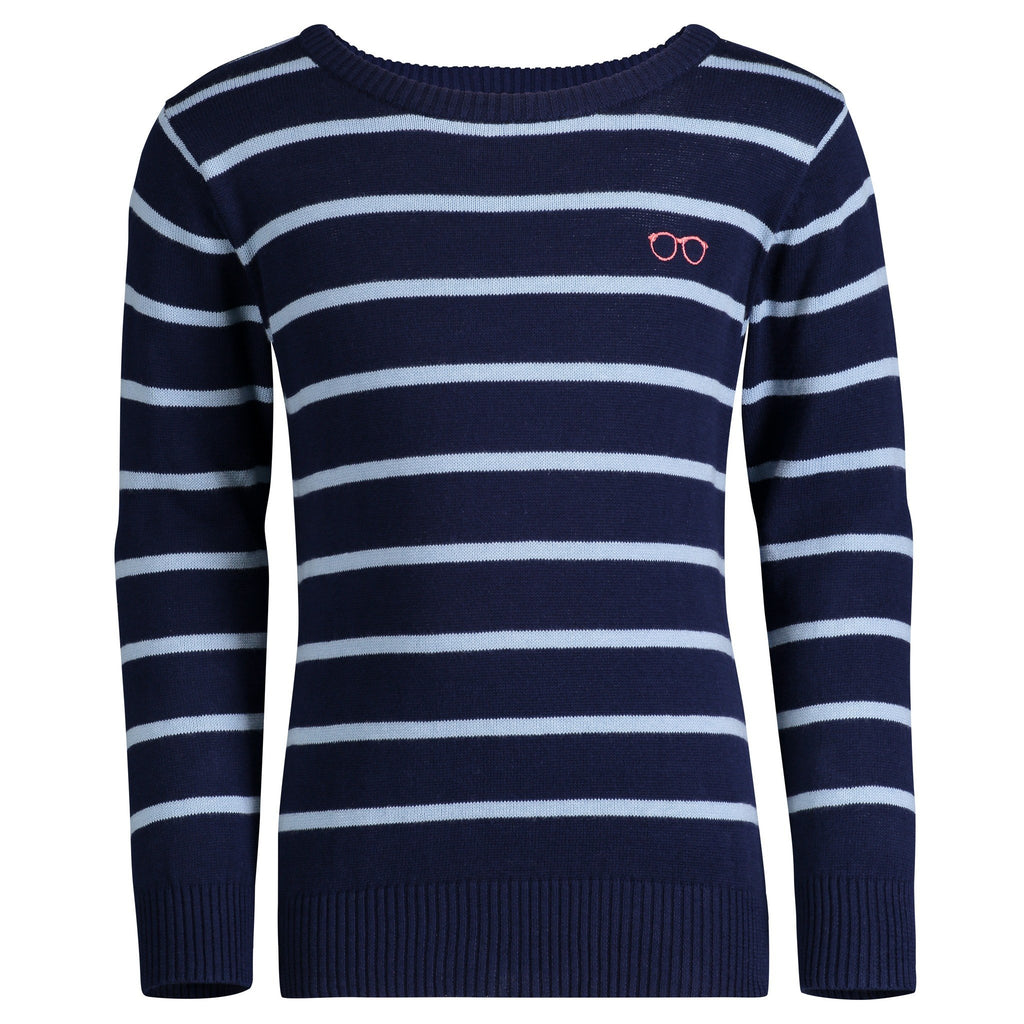 Navy & Blue Striped Sweater - Andy & Evan