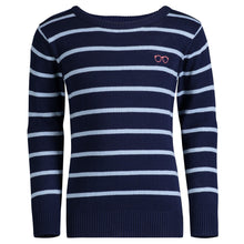 Load image into Gallery viewer, Navy & Blue Striped Sweater - Andy & Evan