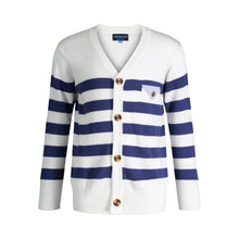 Load image into Gallery viewer, White Varsity Sweater - Andy & Evan