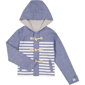 Reversible Chambray Toggle Parka - Andy & Evan