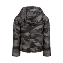 Load image into Gallery viewer, Grey Camo Toggle Puffer Jacket - Andy & Evan