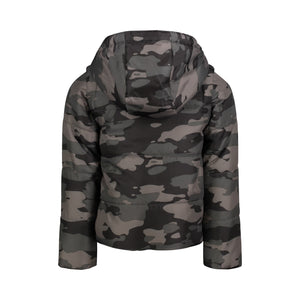 Grey Camo Toggle Puffer Jacket - Andy & Evan