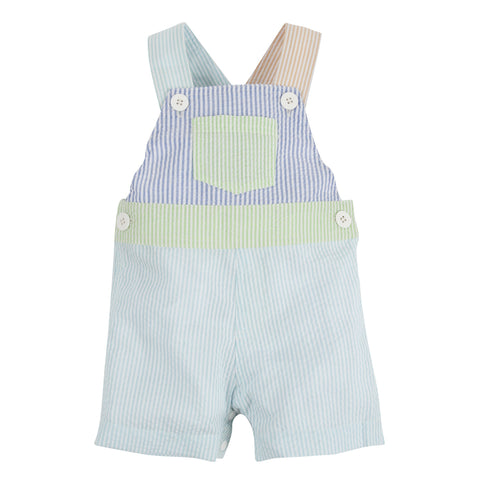 Multi Color Seersucker Overalls