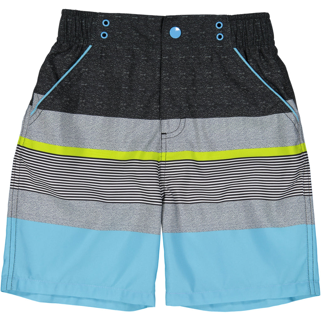 Teal Striped Swimsuit - Andy & Evan