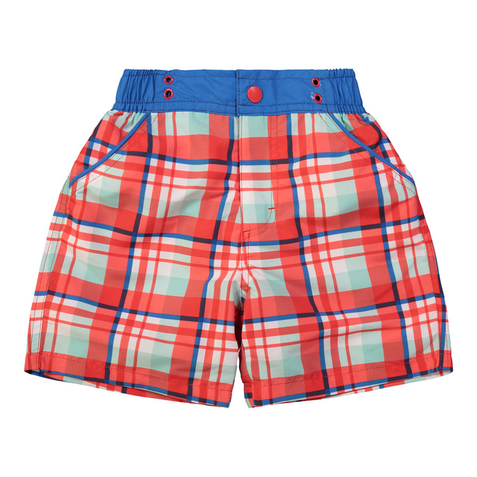 UPF 50 Plaid Swimsuit (Recommended by the Skin Cancer Foundation) - Andy & Evan